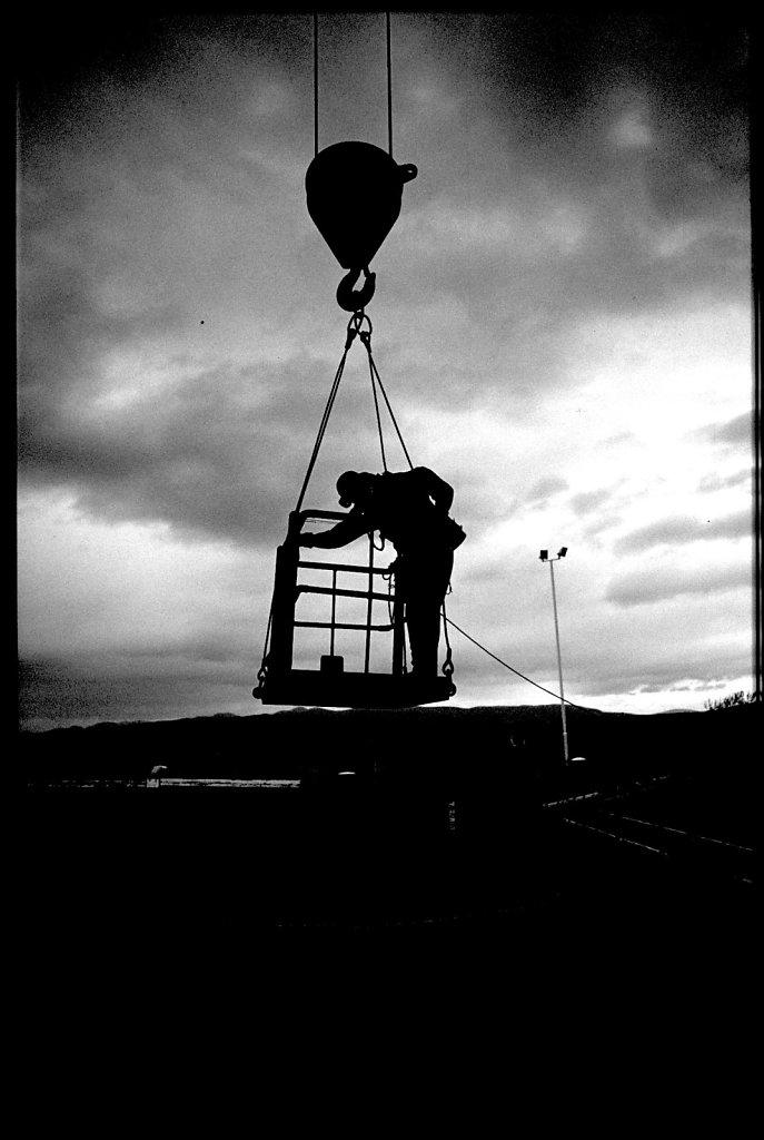 80 yr old industrial diver Scotland